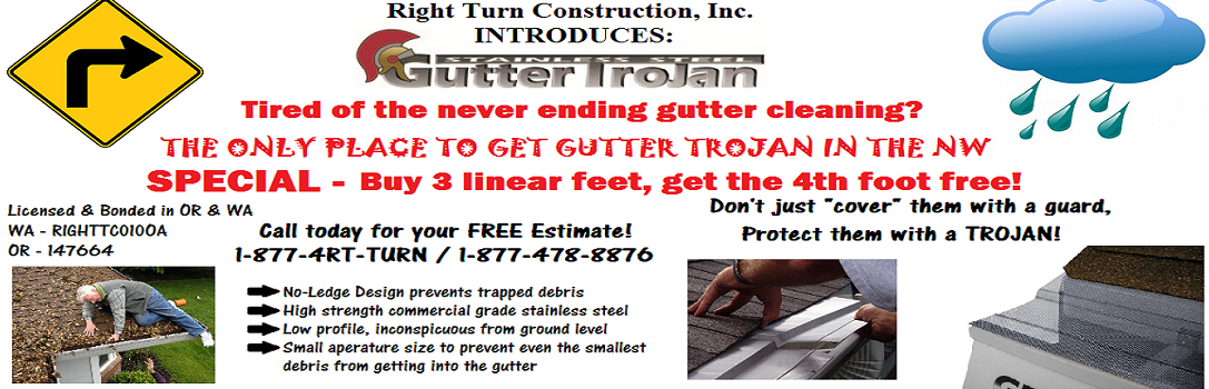 Monthly Specials | Right Turn Construction