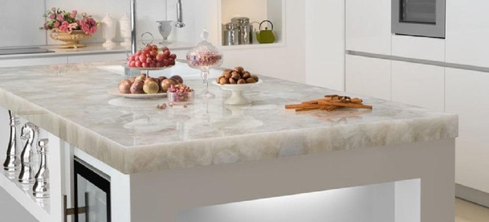 White Composite Kitchen Worktops